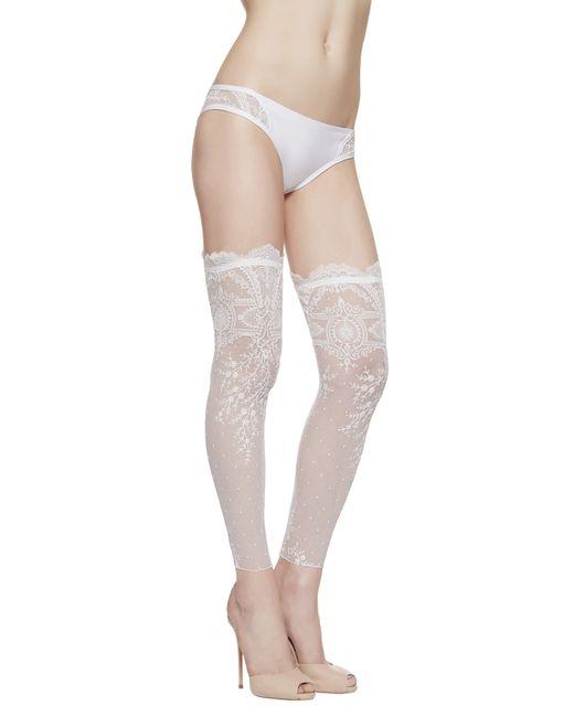 La Perla | White Footless Over-the-knee Stockings | Lyst