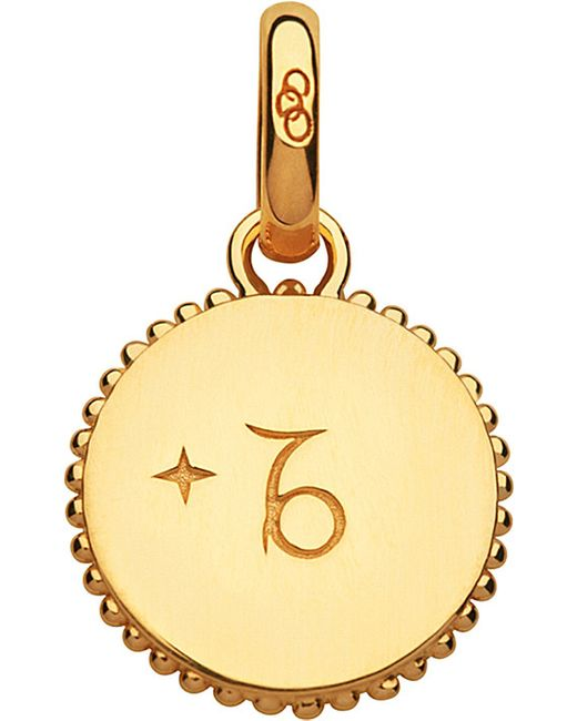 Links of London   Capricorn 18ct Yellow-gold Vermeil Zodiac Charm   Lyst