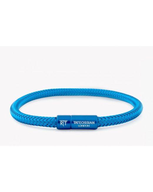 Tateossian | Soho Bracelet In Blue Copper Wire for Men | Lyst