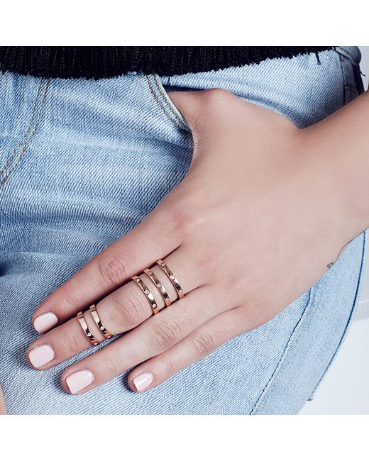 Carbon & Hyde | Metallic Mini Princess Ring | Lyst