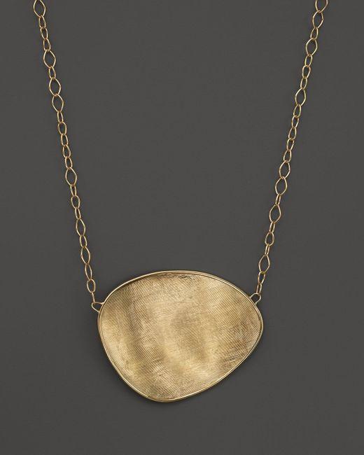 "Marco Bicego | Metallic 18k Yellow Gold Lunaria Pendant Necklace, 16.5"" | Lyst"