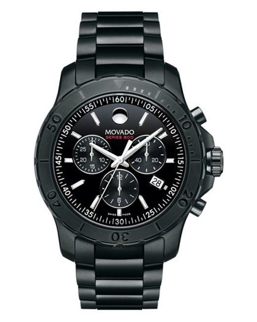 Movado   Black 'series 800' Chronograph Bracelet Watch for Men   Lyst