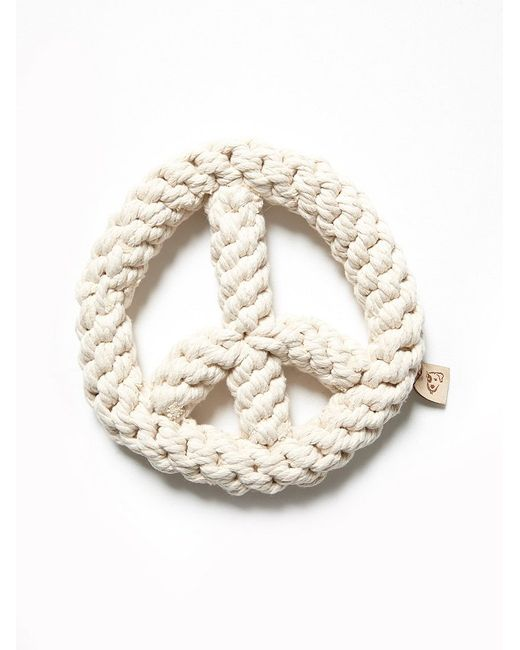Free People | White Peace Sign Rope Dog Toy | Lyst