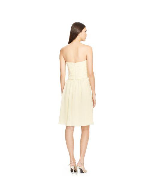 Pink Pony | White Shirred-bodice Dress | Lyst