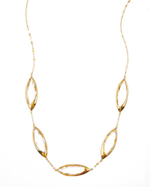Lana Jewelry | Yellow 14k Elite Jetset Marquise Crystal Necklace | Lyst