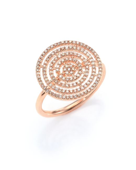 Astley Clarke | Pink Icon Aura Grey Diamond & 14k Rose Gold Ring | Lyst