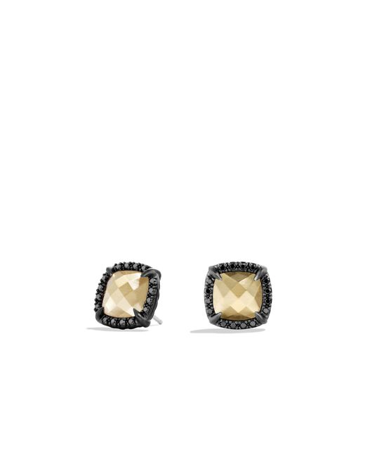 David Yurman | Châtelaine Earrings With Black Diamonds And 18k Gold | Lyst