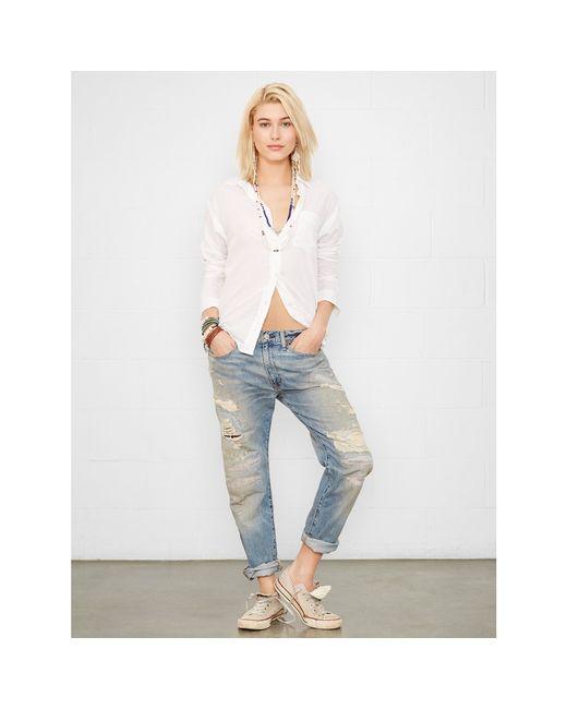 Denim & Supply Ralph Lauren | White Cotton Boyfriend Shirt | Lyst