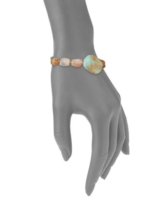 Lena Skadegard   Brown Raw Chalcedony, Aquamarine & Opal Beaded Bracelet   Lyst