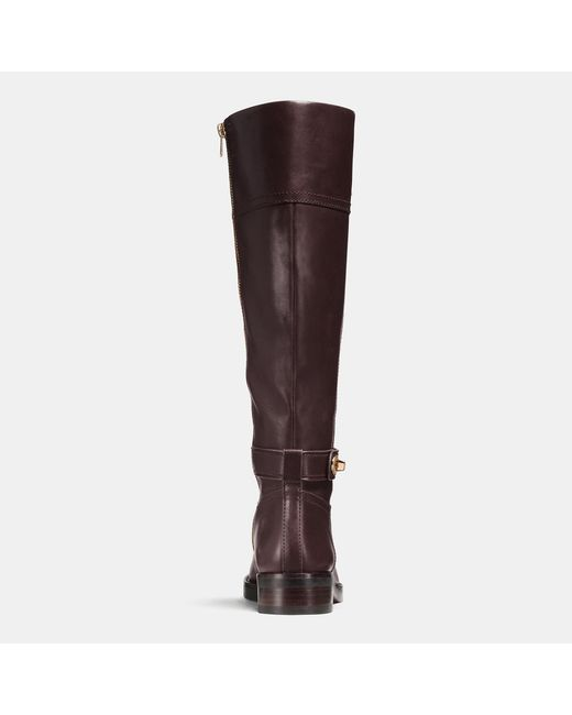 COACH | Brown Eva Leather Knee-High Boots | Lyst