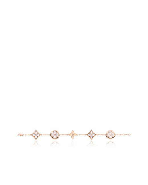 Louis Vuitton | Color Blossom Bracelet, Pink Gold, White Mother-of-pearl And Diamond | Lyst