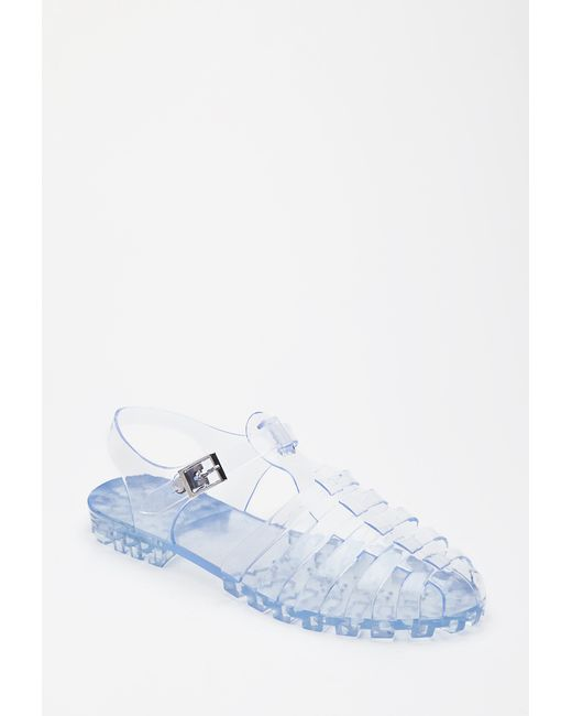 Forever 21 Caged Jelly Sandals In Transparent Clear Lyst