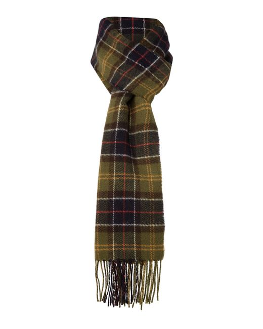 Barbour | Natural Tartan Lambswool Scarf for Men | Lyst