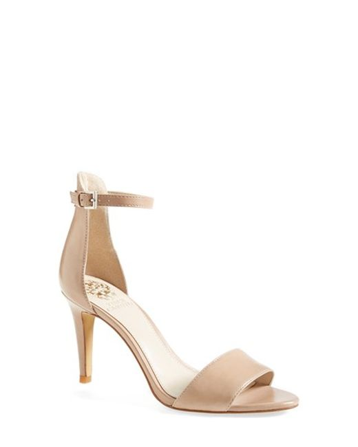 Vince Camuto | Natural 'court' Ankle Strap Sandal | Lyst