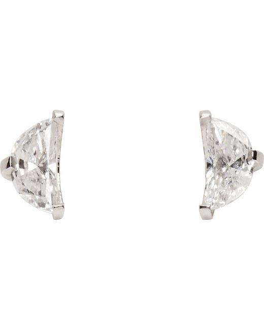 Maison Margiela | White Gold Split Solitaire Earrings | Lyst