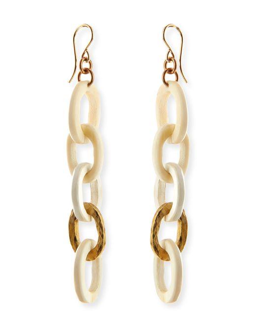 Ashley Pittman | Metallic Mini Mara Light Horn Drop Earrings | Lyst