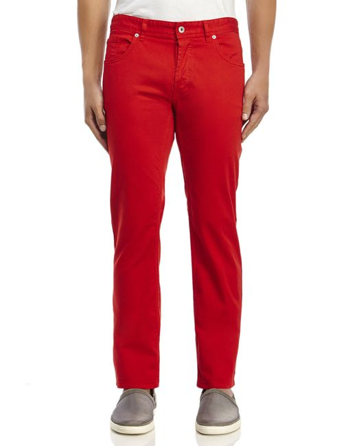 Love Moschino   Red Five-Pocket Slim Straight Pants for Men   Lyst