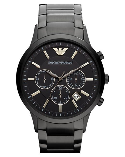 Emporio Armani   Black Stainless Steel Bracelet Watch for Men   Lyst