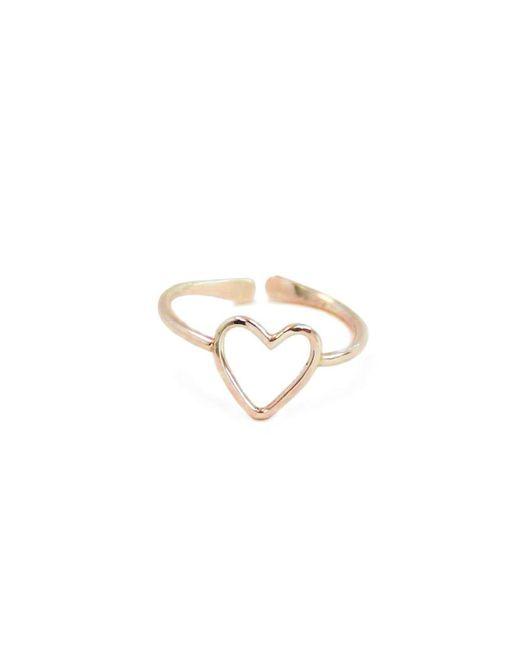 Kris Nations | Metallic Heart 14K Gold Ring | Lyst