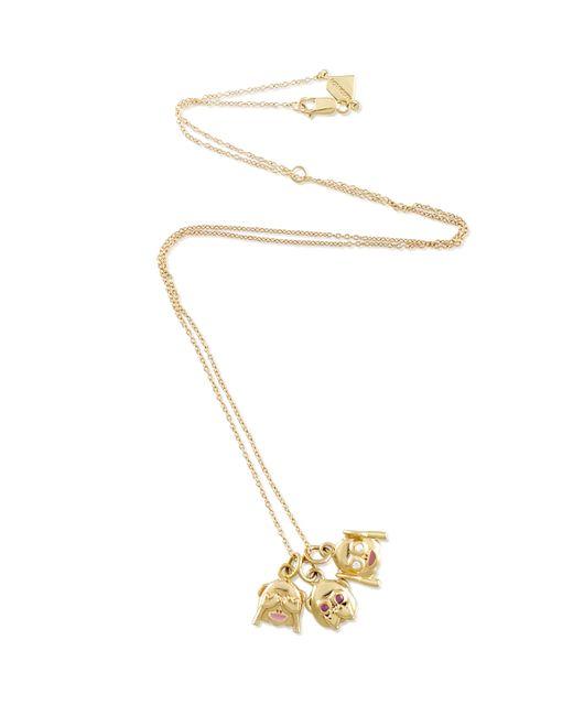 Alison Lou | Metallic 14k Hear No Evil Necklace | Lyst