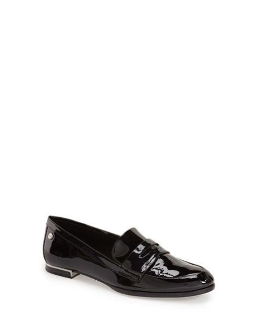 Calvin Klein | Metallic Celia Leather Loafer | Lyst