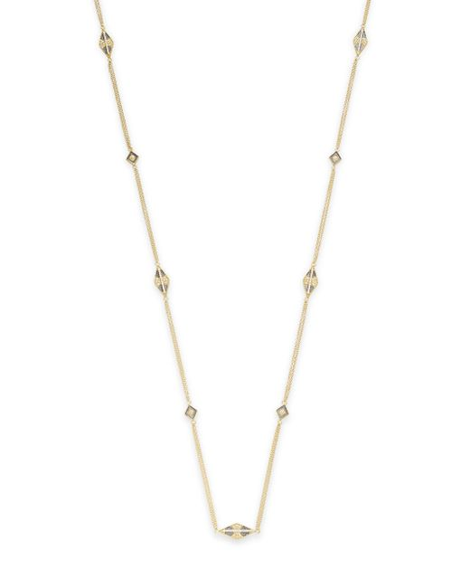 Freida Rothman | Metallic Geometric Station Necklace | Lyst