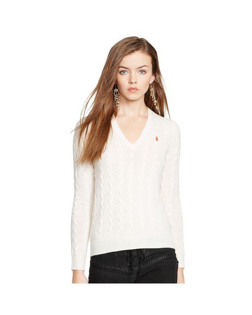 Polo Ralph Lauren | Natural Wool Blend V-neck Sweater | Lyst