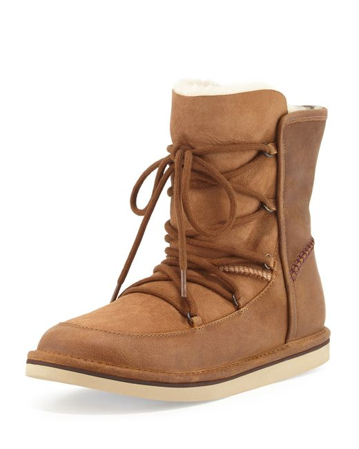 UGG | Multicolor Lodge Suede Boots With Lace-up Front | Lyst