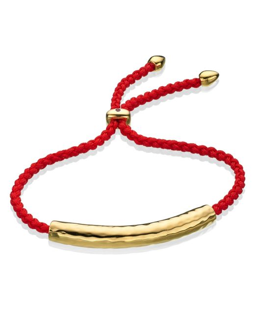 Monica Vinader | Purple Fiji 18ct Gold-plated Friendship Bracelet | Lyst