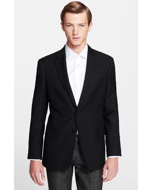 Armani | Black G-line Trim Fit Wool Blazer for Men | Lyst