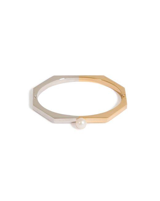 Delfina Delettrez | Metallic Gold-plated Silver/silver Fullmoon Bracelet - Gold | Lyst