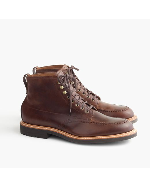 J.Crew | Brown Kenton Cap-toe Leather Boots for Men | Lyst