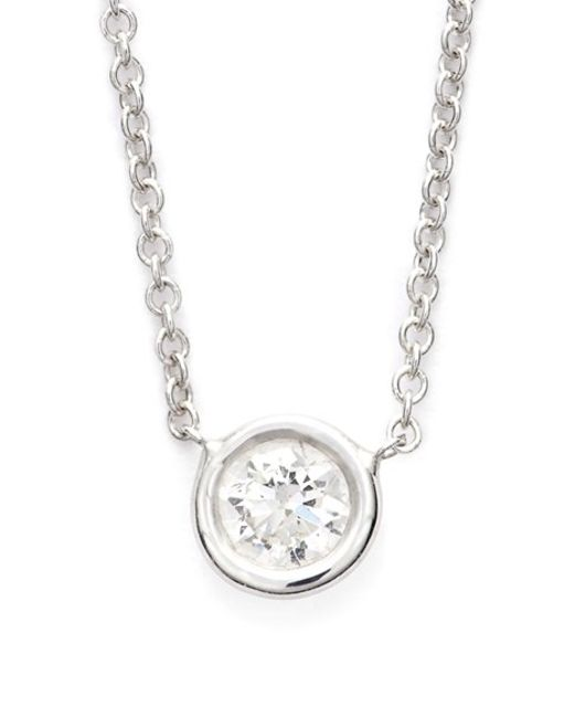Bony Levy | Metallic Medium Diamond Solitaire Pendant Necklace (limited Edition) (nordstrom Exclusive) | Lyst