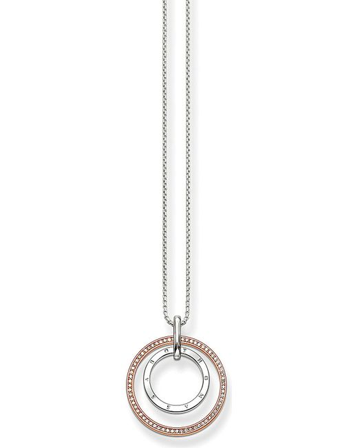 Thomas Sabo | Metallic Glam & Soul Two-tone Sterling Silver And 18ct Rose Gold-plated Circles Necklace | Lyst