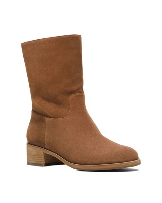 michael kors suede boot in brown luggage lyst