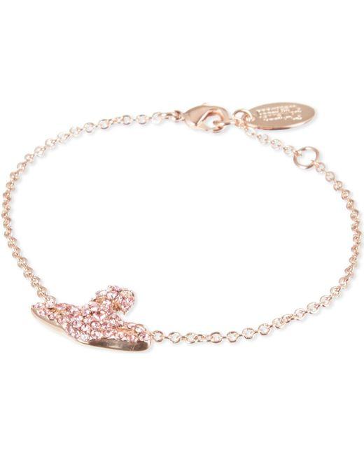 Vivienne Westwood   Metallic Grace Bas Relief Pavé Orb Bracelet   Lyst