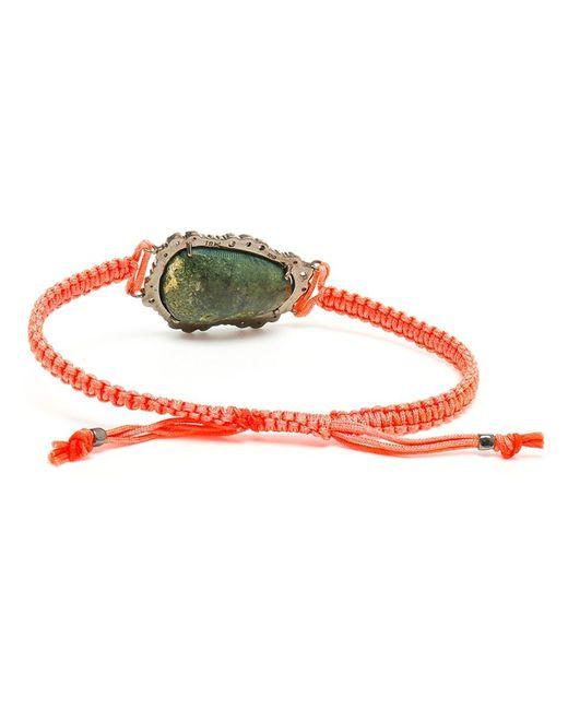 Kimberly Mcdonald | Orange 18kt White Gold, Dark Geode And Macramé Bracelet | Lyst