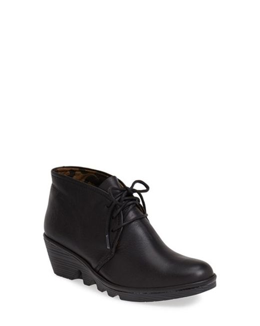 Fly London | Black 'pert' Wedge Bootie | Lyst