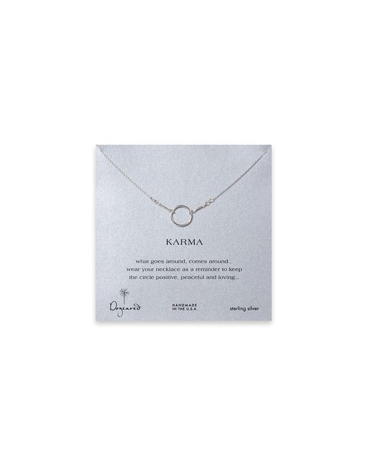 Dogeared | Metallic Karma Necklace, 18"