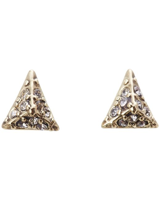 House of Harlow 1960   Metallic Pavé Triangle Studs   Lyst