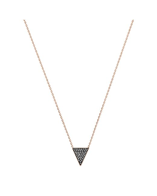 Michael Kors | Pink Black Pavé Triangle Necklace | Lyst