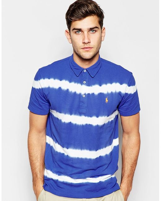 Polo Ralph Lauren Polo Shirt With Tie Dye Regular Fit In