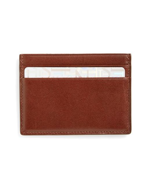 Boconi | Brown Crocodile Card Case for Men | Lyst