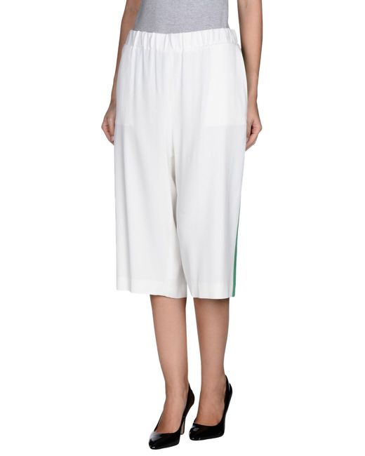 MSGM | White 3/4-length Short | Lyst