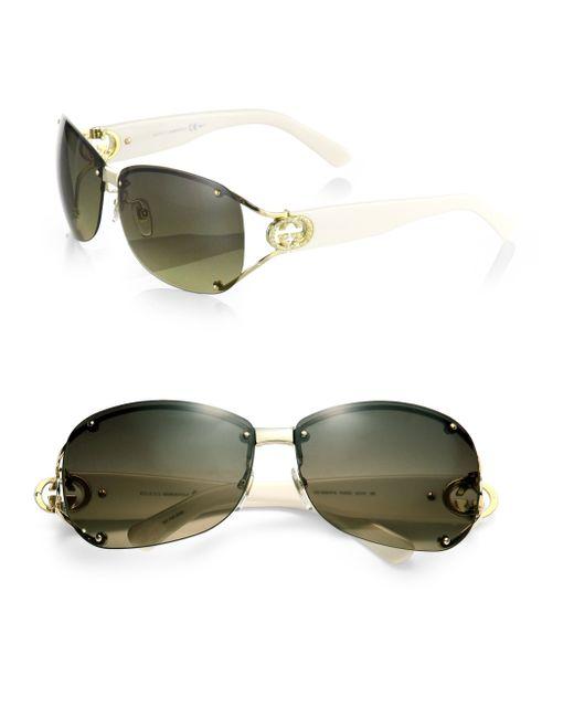 ca040fbfa33 Gucci 62mm Open Temple Rimless Sunglasses