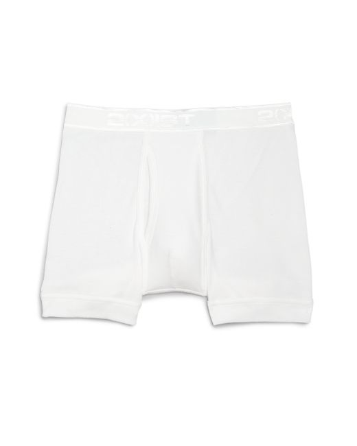 2xist | White Pima Cotton Boxer Briefs for Men | Lyst
