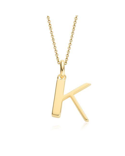 Monica Vinader   Metallic Alphabet Pendant K   Lyst