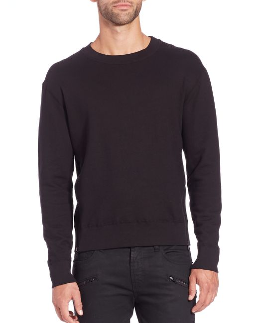 J Brand | Black Potter Cotton Sweatshirt for Men | Lyst