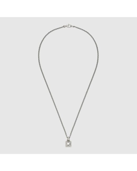 Gucci | Metallic Necklace In Silver With Stud | Lyst