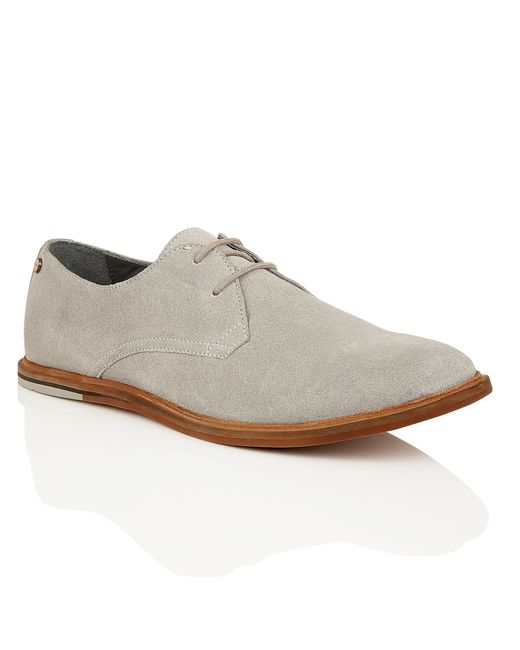frank wright busby mens lace up shoes in gray for